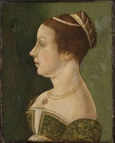 Portrait of a Lady  Artist/maker unknown, active Venice, Italian  Geography: Made in Venice, Italy, Europe Date: c. 1475-1480 Medium: Oil on panel Accession Number: Cat. 164a