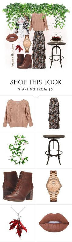 """""""Fall Garden Party"""" by autumnhawthorn on Polyvore featuring Ryan Roche, A.L.C., WALL, Timberland, GUESS and Lime Crime"""