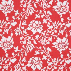 Tiger Lily Red Floral Printed Stretch Cotton Poplin - Fashion Fabrics