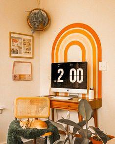 Fliqlo - Flip Clock App and Screensaver Cute Bedroom Decor, Room Ideas Bedroom, Dream Bedroom, 70s Bedroom, Bedrooms, Aesthetic Rooms, Vintage Interiors, Vintage Room, Boho Living Room