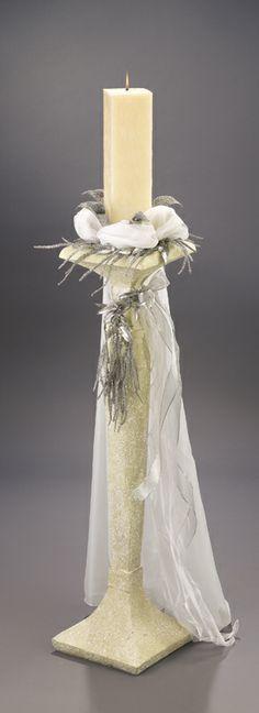 Λαμπάδα γάμου Melita - Είδη γάμου & βάπτισης, μπομπονιέρες γάμου   tornaris-rina.gr Pillar Candles, Photos, Taper Candles