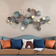 Buy Nordic style wall hangings Creative wrought iron wall decoration solid wall decoration Living room background wall decoration pendant in - Metal tree wall art Metal Wall Art Decor, Metal Tree Wall Art, Leaf Wall Art, Diy Wall Art, Diy Wall Decor, Wall Decorations, Mural Wall Art, Wall Décor, Metal Art