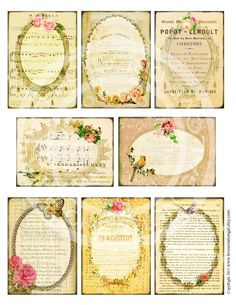 8 Rebord vintage victorien fleur Rose images par lovecreationgal