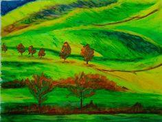 Green Rolling hills:Writer mulling around....
