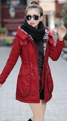 Winter #Parka Coat with Gathered Waist YRB0590 £39.00