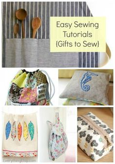 21 Easy Sewing Tutorials {Gifts to Sew} #sewing #diy