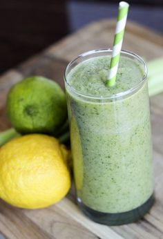 green energy detox cleanse drink recipe serves 1 view with fruits and vegtables