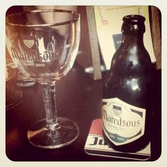 Maredsous, a lovely Belgian beer.