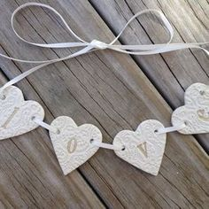 Image result for personalised clay love hearts