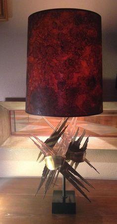 MID CENTURY MODERN BRUTALIST LAMP CIRCA 1960' 1970'S JERE, GREENE    eBay