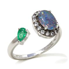 Rarities Australian Opal Triplet and Multigem Ring