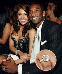 "The infamous ""apology ring."" NBA star Kobe Bryant gifted his wife, Vanessa Bryant, this diamond ring after he admitted to being unfaithful (and was charged with sexual assault, though the criminal. Kobe Bryant And Wife, Kobe Bryant Family, Bryant Lakers, Kobe Bryant Nba, Black Celebrities, Celebs, Vanessa Bryant, Kobe Bryant Black Mamba, Nba Stars"