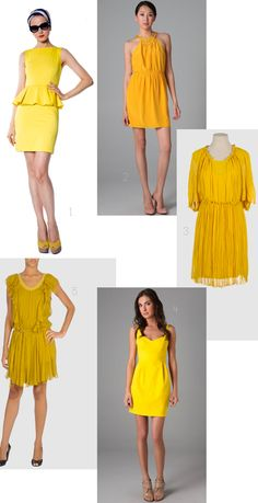 Dresses that your bridesmaids will LOVE in different shades of yellow! FAB