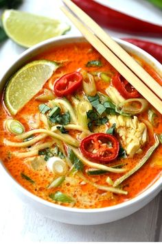 The post Thai Curry Noodle Soup Soup Recipes Ideas appeared first on Woman Casual - Food and drink Beef Soup Recipes, Healthy Soup Recipes, Ground Beef Recipes, Chicken Recipes, Chicken Soup, Noodle Recipes, Greek Chicken, Chicken Curry, Rotisserie Chicken