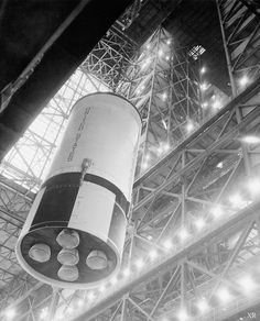 SII - 2nd stage - Saturn V assembly #retro #space  #apollo #1969