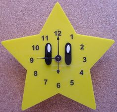 Super Mario Star clock by TheobaldGraphics on Etsy, $35.00