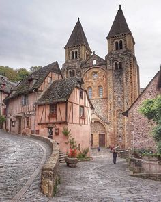 Travel around the world Most beautiful cities and places Freedom World Beautiful City, World's Most Beautiful, Beautiful Places To Visit, Sainte Foy De Conques, Vila Medieval, Travel Around The World, Around The Worlds, Places To Travel, Places To Go