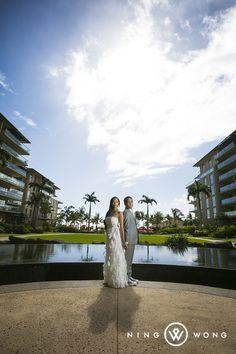 Wedding photos at the Honua Kai Resort in Lahaina.  Maui, Hawaii (Photo by www.ningwong.com)