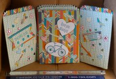 Here is another batch I made - Colorful Bicycle Gift Bags with Arrows and Hearts by InkOnMyPaws  Stampin' Up!