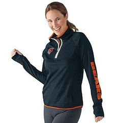 G III NFL® Chicago Bears Women's Interval 1/2 Zip Pullover