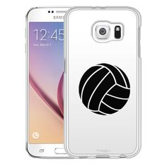 Samsung Galaxy S6 Silhouette Volleyball on White Slim Case