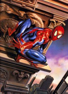 #Spiderman #Fan #Art. (Spider-Man) By: Boris Vallejo. (THE * 5 * STÅR * ÅWARD * OF: * AW YEAH, IT'S MAJOR ÅWESOMENESS!!!™) ÅÅÅ+