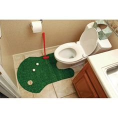 Golf Gifts & Gallery Clubhouse Collection Bathroom Golf Game ha! I know who I'm getting this for. It'll probably end up as a white elephant gift lol
