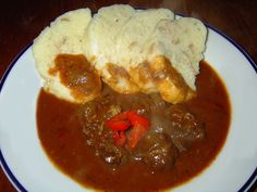 Czech Recipes, Food Videos, Food And Drink, Beef, Dinner, Cooking, Red Peppers, Meat, Dining