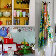 love this 'kuddelmuddel' of old and new, children and adult, colours and style
