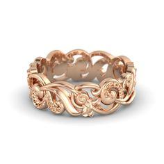 14K Rose Gold Ring | Poseidon Band | Gemvara