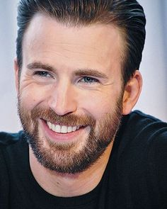 Good morning ♡ (new beautiful photo from the CACW press tour)  #ChrisEvans #ChrisEvansHighQuality ##ChrisEvansBeard #ChrisEvansSmile #FuckingBeautiful