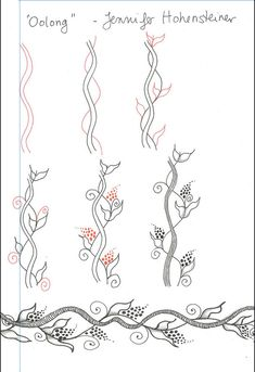Creative Doodling: The Art of Zentangle - Tangle Pattern Oolong l Doodle art l Pen and ink drawing l zendoodle ideas