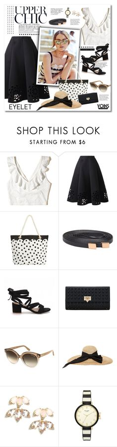 """""""Upper chic - YOINS"""" by violetta-valery ❤ liked on Polyvore featuring Hollister Co., PBteen, Tom Ford, Kreisi Couture and Kate Spade"""