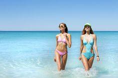 Rosapois Mare summer 2016  Photographer: Settimio Benedusi  #benedusi #rosapois #rosapoismare #beachwear #pink #python #printedfabric  #shining #bikini #gorgeous