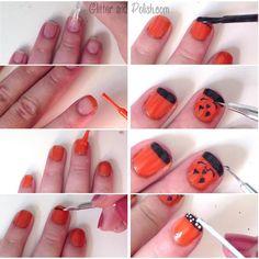 Jack-O-Lantern Nails