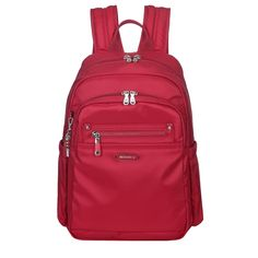 Westlake Leather Trimmed Travel Backpack in Jester Red | Beside-U #backpack #BesideU