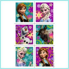 nice Disneys Frozen Sticker Party Favors