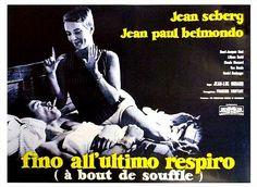Breathless (a bout de souffle) - Italian Movie Poster
