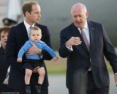 --April 2014--Duke of Cambridge with Prince George