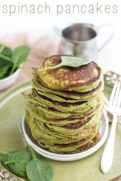 Spinach Pancakes | chocolateandcarrots.com