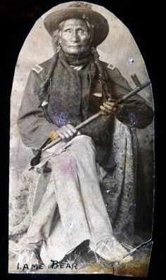 Lame Bear - Plains Apache - 1891 https://www.pinterest.com/lindascrapchick/native-americans/