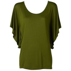 Gather Flutter Sleeve Tee found on Polyvore