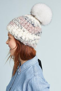 e106ecf3654e0 Melange Pom Beanie. Winter WearWinter HatsCold WeatherAnthropologieKnitwear BeanieKnit ...