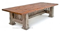 Antique Barnwood Dining Table More
