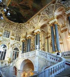 The best places to visit in Russia. Hermitage Museum, Russia