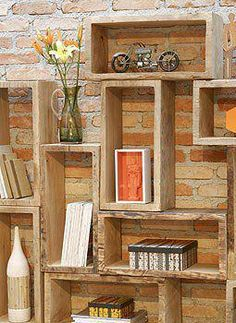 Cute idea for custom shelving Decorating Your Home, Diy Home Decor, Recycled Furniture, Design Furniture, Architecture, Ideal Home, Decoration, Home Projects, Bookcase