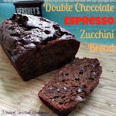 Double Chocolate Espresso Zucchini Bread