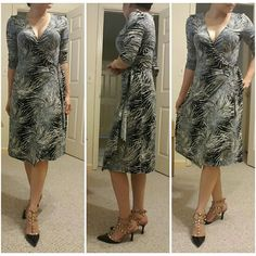 SALEBCBG black and white wrap around dress FIRMED PRICE! SALE ALREADY. Like new, wore once with care BCBGMaxAzria Dresses Asymmetrical