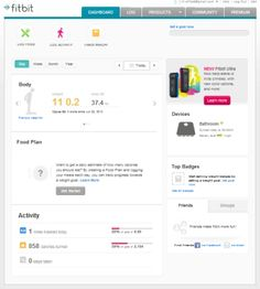 Fitbit's Aria Wi-Fi Smart Scale tracks weight, body fat percentage and BMI, and automatically uploads the data, via Wi-Fi, to a Fitbit online profile