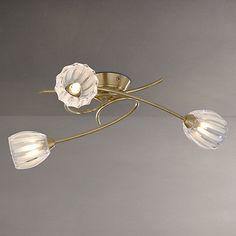 £60 John Lewis Brooke Fluted Swirling 3 Arm Ceiling Light Online at johnlewis.com